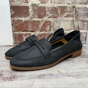 New Lucky brand leather Caylon Loafers 10 Black